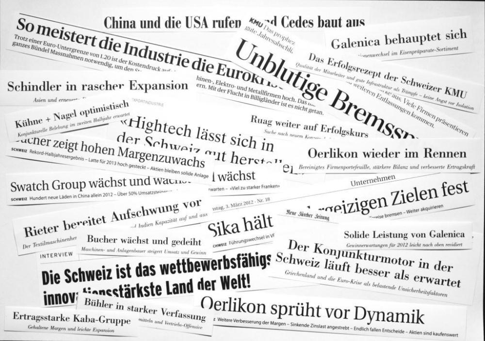 Nischenmärkte als Erfolgsrezept der Schweizer Wirtschaft